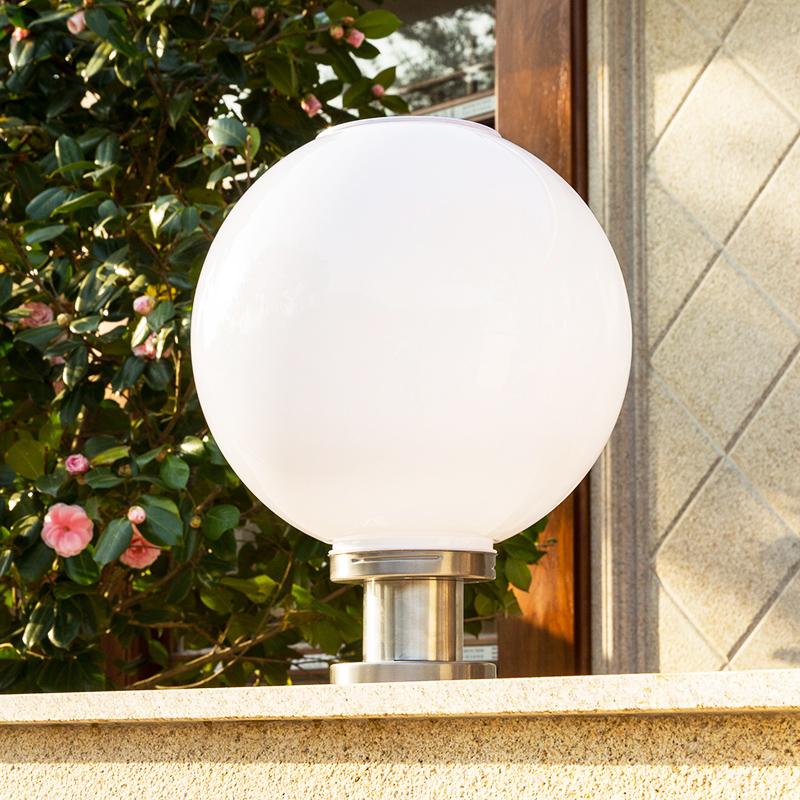 太阳能灯户外超亮led大门灯球形围墙灯景观庭院门柱灯小区柱头灯