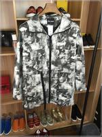 2016早春中长款薄风衣外套个性印花时尚潮流修身男士外套范儿