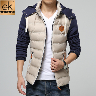 citylinktactic2014 new winter coat and winter clothes men Korean tidal Slim thick jacket Men