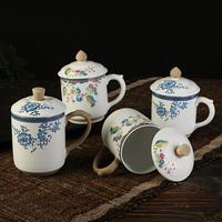 水杯景德镇杯子大号水杯家用办公茶杯会议杯个人水杯礼盒杯