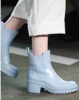 2015官方走秀款单靴 漆皮靴子漆皮雨靴
