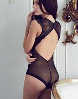 维多欧美 镂空蕾丝背心连体裤诱人美背深V利亚情趣内衣性感的秘密