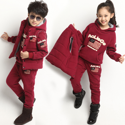 2014 autumn winter new children's clothing girls boys sweater children's sports Parure kids clothes tide