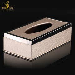高级酒店星级宾馆高档会所用品 超高级PU皮具制品 抽纸盒纸巾盒