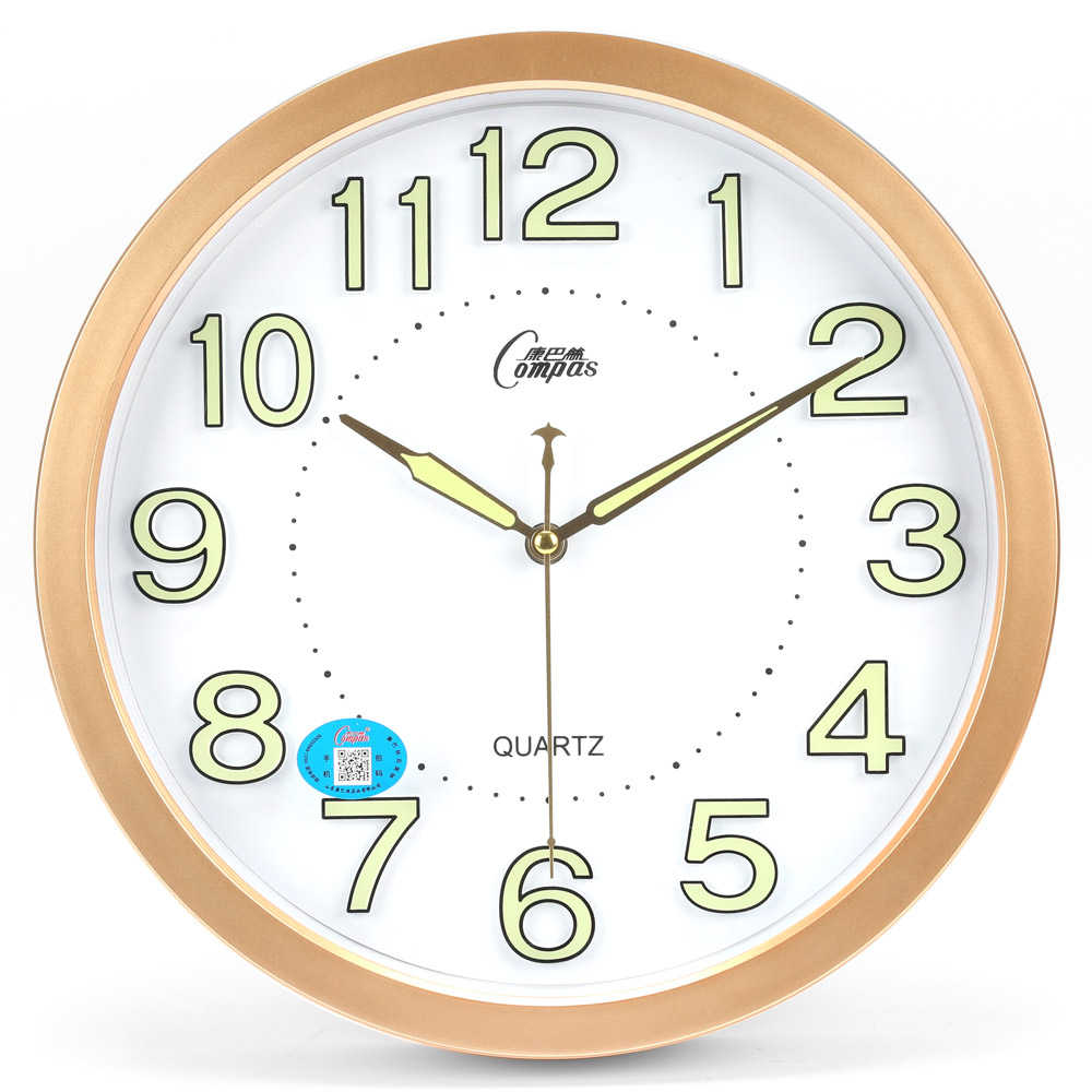 Genuine Compas Luminous Watches Mute Bedroom Living Room Wall Clock
