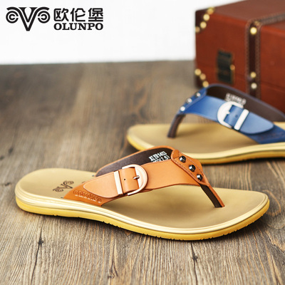 2014 summer new sandals slippers Orem Fort Men's casual men's beach slippers men