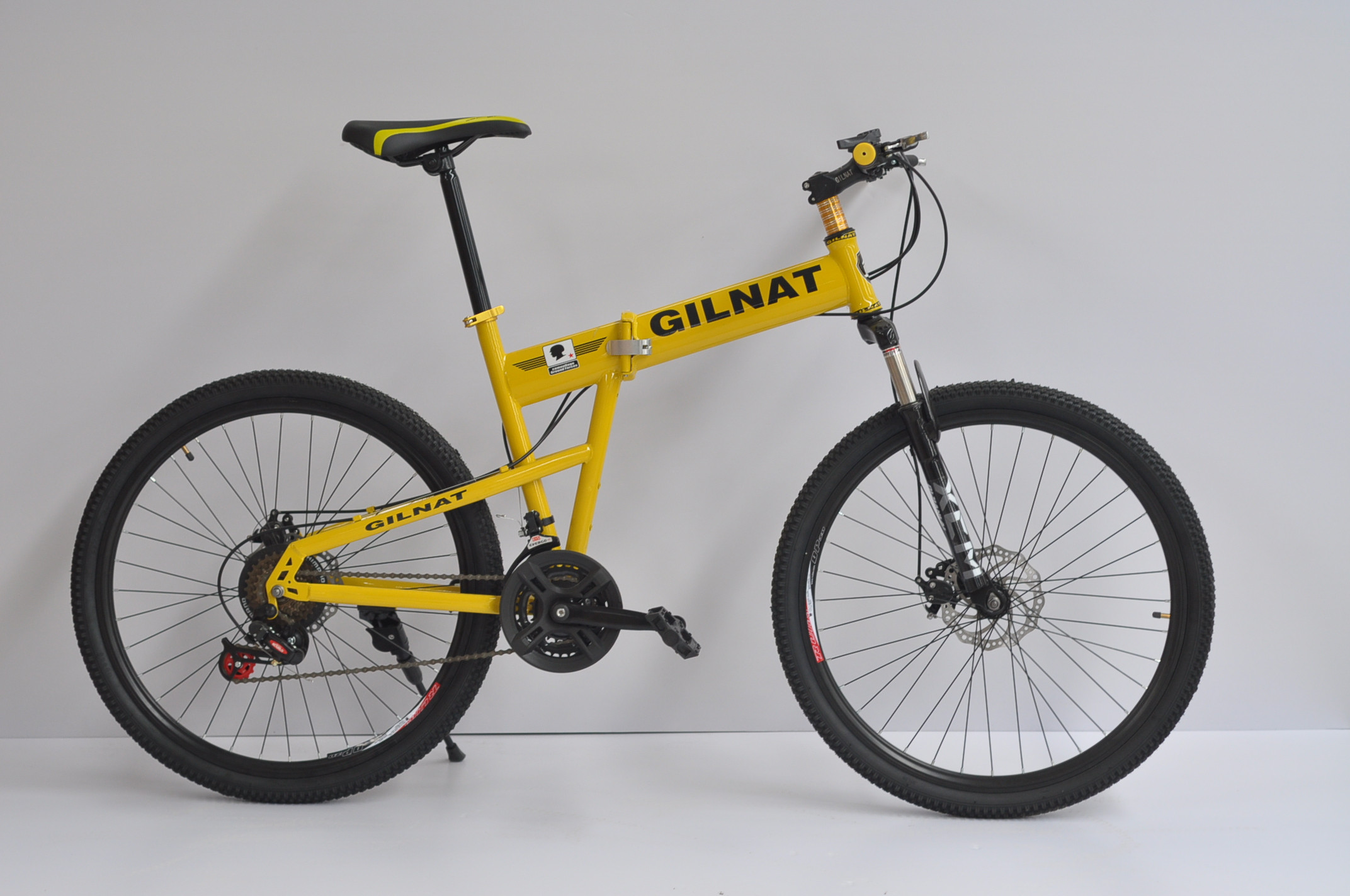 高碳钢 21速26寸折叠变山地车自行车 减震变速 买一送八 全国包邮