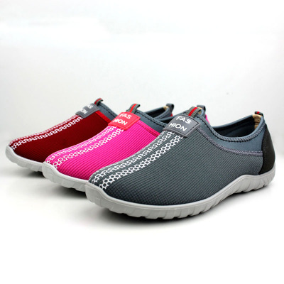 XinXing authentic fashion cloth shoes old Beijing technology female sports shoes breathable middle-aged and old flat shoes