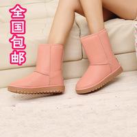 2014新款秋冬时尚女鞋中筒靴牛筋底防水台女雪地靴子皮毛一体棉鞋