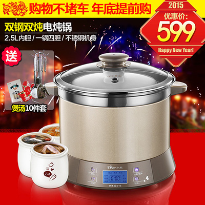 Bear / Bear Bear DDZ-125TC across hydro electric cooker slow cooker porridge pot porcelain appointment time