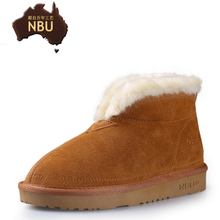 NBU short boots The old man winter boots, leather shoes man in Australia The old cotton shoes lovers female boots