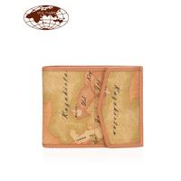 马天尼地图包男钱包短款多功能盖头卡包零钱包手机包欧美时尚正品