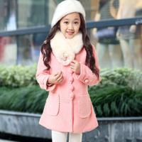 童装2015潮冬装女童毛呢大衣韩版外套中大童儿童加厚羊毛新款外套