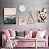 北欧风格客厅装饰画火烈鸟ins挂画沙发背景墙画餐厅现代简约壁画