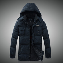 Middle-aged and old men's winter down jacket 50 to 55 to 60-70 - year - old dad grandpa old man warm down coat