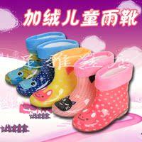 儿童雨靴男童女童防滑胶鞋加绒保暖幼儿小孩水鞋宝宝卡通低筒雨鞋