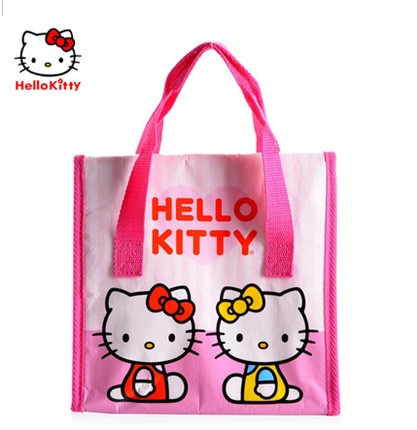 Hello Kitty凯蒂猫饭盒袋儿童便携保温便当袋小手提包学生便当袋
