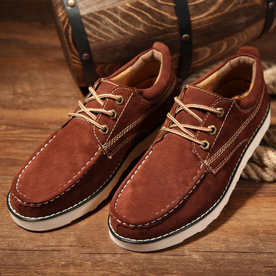 Luo Kashi new autumn and winter men's casual shoes men's fashion shoes suede leather lace England