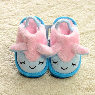 Family parenting shoes explosion models cute cartoon baby lamb children winter indoor slippers cotton slippers shoes for men and women