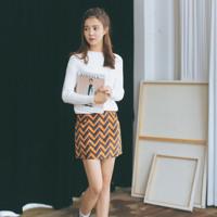 2015秋冬新款韩版气质宽松百搭纯色圆领套头毛衣长袖女