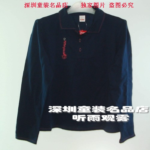 小猪班纳女童装 长袖T恤反领针织打底衫12015222 正品 特价
