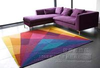 简约现代客厅茶几地毯彩色个性卧室床边飘窗地毯加厚手工定制地毯