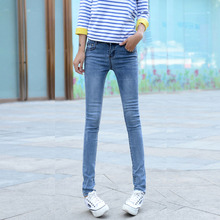 The 12-13-14-15-16 years old girl spring/summer outfit tight jeans feet pants girl students pencil pants of height