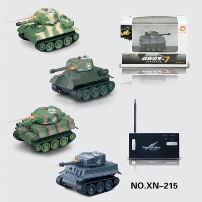 Free shipping mini wireless remote cattle tanks German Tiger tanks lithium mini remote control tank XN-215