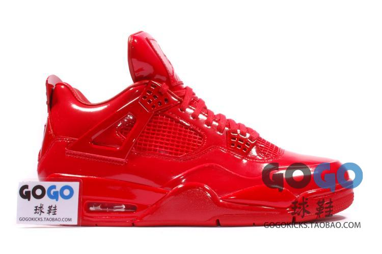 GOGO球鞋 Air Jordan 11 Lab4 Red AJ4 全红漆皮 719864-600
