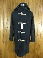 古着 DOGCIGAR英伦学院牛角扣大衣 防寒渔夫大衣外套 L码 1398
