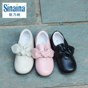 斯乃纳女童皮鞋18公主鞋秋款真皮羊皮宝宝时尚单鞋SP B