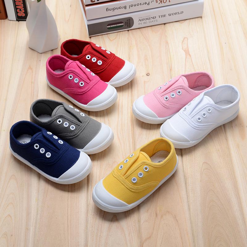 2016春秋儿童帆布鞋男童女童宝宝单鞋小童鞋子板鞋韩版潮流小白鞋