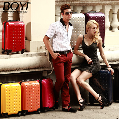 Boyi Trolley Wheels 20-inch 24-inch hard case for men and women retro travel luggage board chassis password