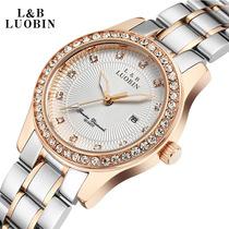罗宾手表时尚潮流水钻时装女表精钢石英女表夜光防水女士手表表