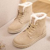 2014 autumn and winter snow boots female Korean student Duantong boots warm boots women boots cotton-padded shoes lace boots
