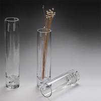 娜祺精品直筒玻璃高白料加厚花瓶 透明玻璃花瓶 欧式简约大气花瓶