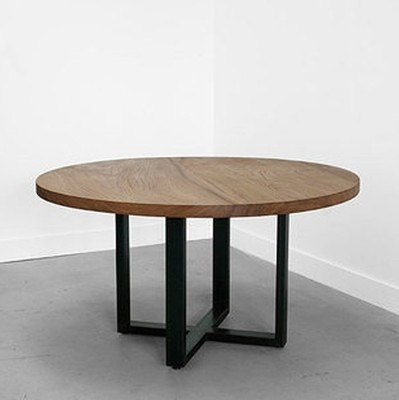American country wood, wrought iron round table conference table office Bar Restaurant Roundtable Roundtable wood bar table