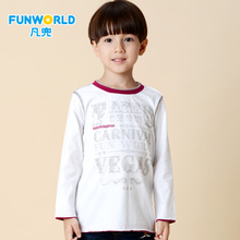 Who take children's wear the new 2014 toward a boy blended round collar animated cartoon long sleeve T-shirt