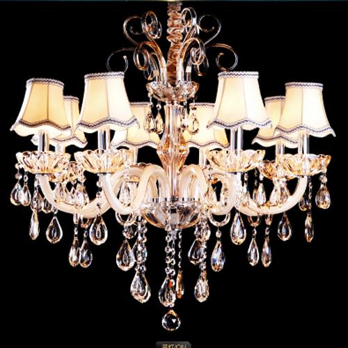 欧式蜡烛水晶吊灯奢华led客厅餐厅卧室酒店会所大堂