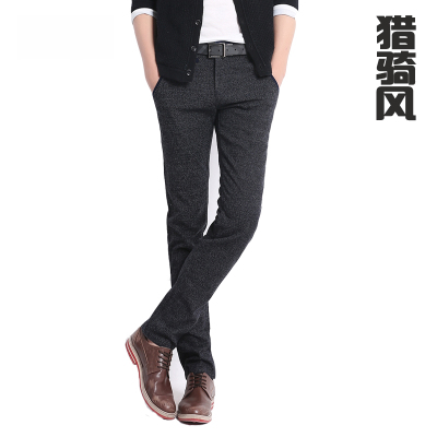 Hunting, riding the wind in winter new men's casual pants thickening Slim trousers male pants men straight men's pants feet