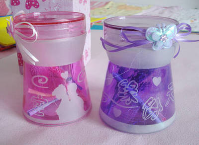 Fate sky frosted bottle ~ color lucky stars Wishing bottle