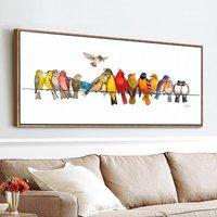 栖鸟现代简约客厅装饰画沙发背景墙餐厅挂画卧室床头画酒店横幅画
