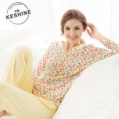The new autumn and winter 2014 cards Xuan Ms. cotton tracksuit suit fashion casual printing Pyjamas pajamas