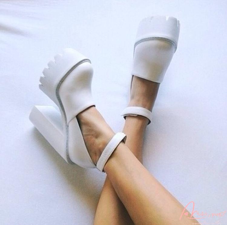 Missmo шпильки 15 см каблуки белый воротничок панк-удобная обувь женская обувь в Европе и Америке люди Джокер