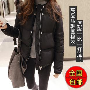 韩国女棉服面包服15冬装新款短款长袖修身圆领小款棉衣外套学生潮