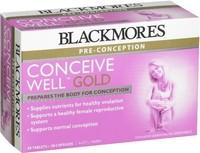 现货 Blackmores 孕前备孕优生黄金营养素28粒片剂+28粒胶囊叶酸