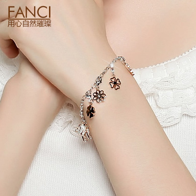 FANCI charms DIY personalized sterling silver bracelet bracelet female Korean fashion creative New Year's Day New Year's gift