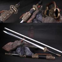 龙泉剑 黑檀木花纹钢精品八面唐剑 汉剑 刀剑 高档礼品 未开刃
