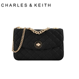 Charles & amp; amp; Keith purchasing genuine autumn new female Lingge chain shoulder hand bag small CK2-70700082