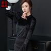 衬衫女长袖秋季黑色衬衣名媛女装时尚轻奢优雅OL通勤职业上衣
